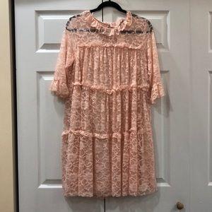 Pink Lace Asos Maternity Dress